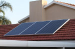 3 photovoltaic panels on tiles