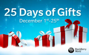 Blackberry 25 days to christmas gifts