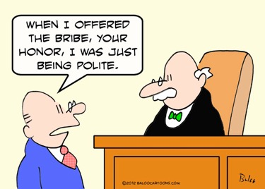 Bribe chat with judge