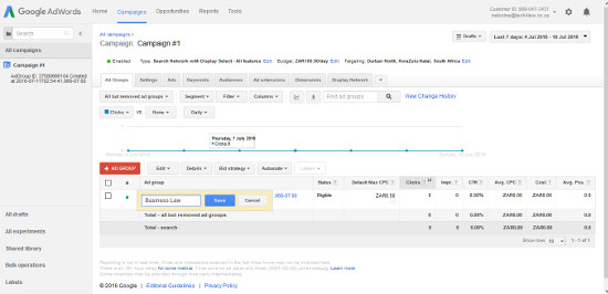 Campaing Adwords Editing page 1