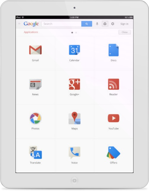 GoogleSearch iPad