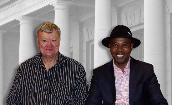 LSSA Cochairpersons Jan van Rensburg and Mvuso Notyesilr