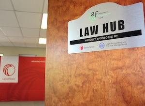 Law Hub technology sponsored by LexisNexis and AJS