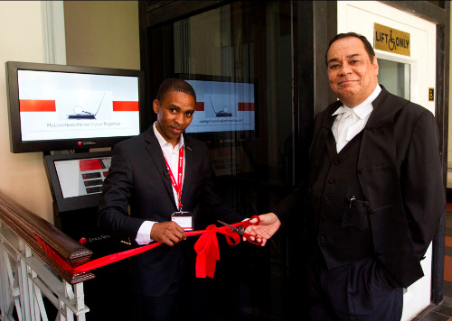 LexisNexis Commercial Director Thabo Molefe and Deputy Judge President of the KZN High Courts Achmat Naaim Jappie launch the digital self help kiosk at Durban High Court