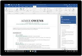 LinkedIn produces resume in ms word