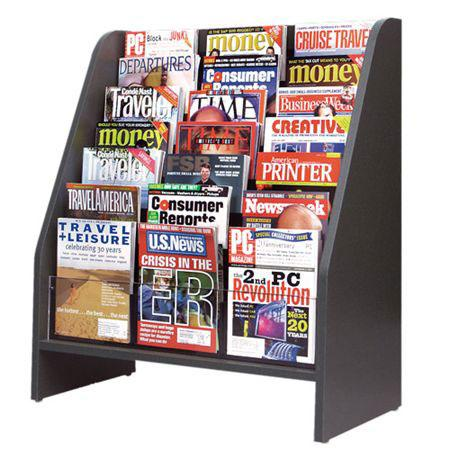 Magazines on display in law firm reception