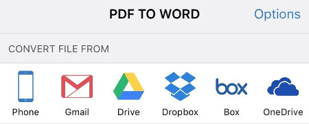 Open PDF to convert from