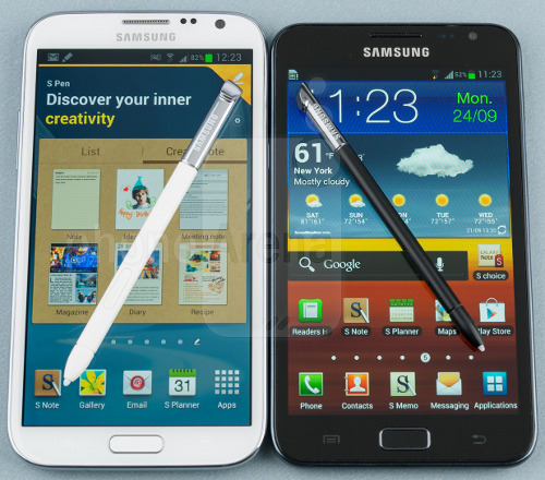 Note II next to the Old Note