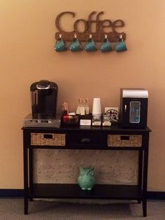 coffee station in reception