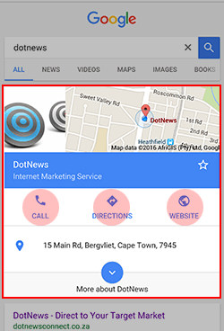 contacts information mobile google