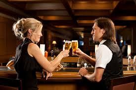 Man and woman in bar joke