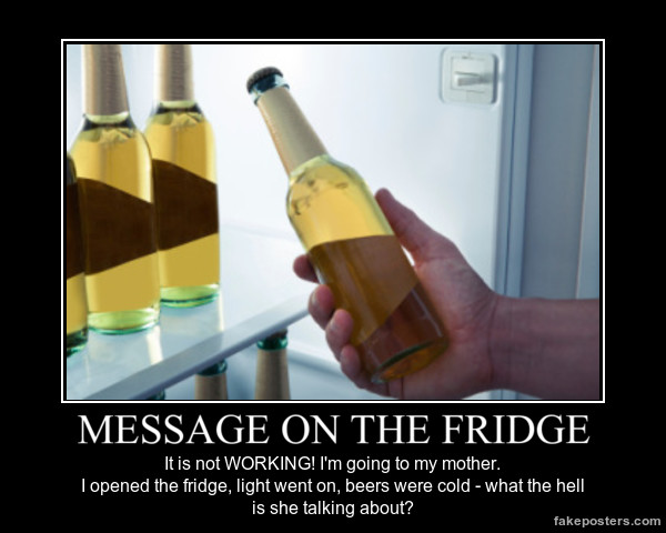 fridge message