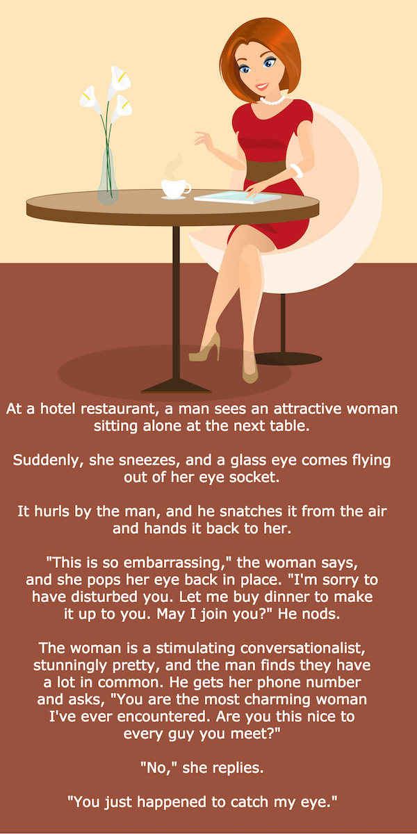 lady on her own at restaurant
