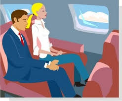 Lawyer and blonde on flight