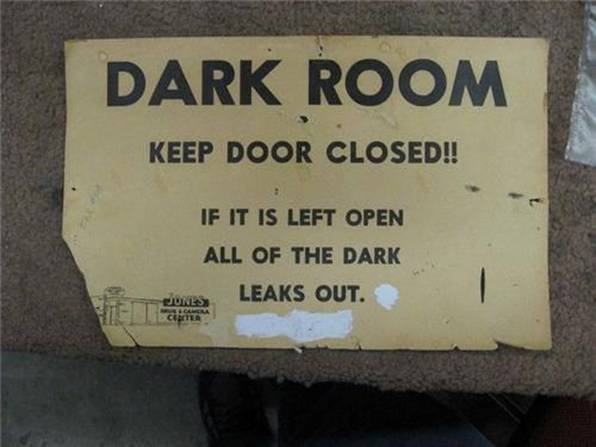 leaking dark room