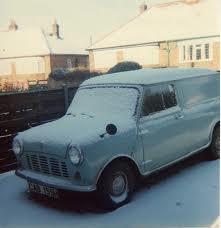 minivan in snow