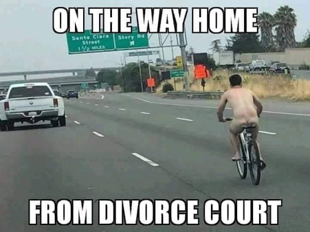 on way home after divorce