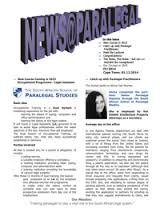 paralegal studies newsletter