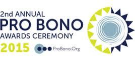 pro bono awards 2015