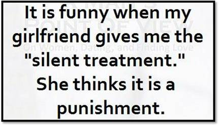 silent treatment punishment