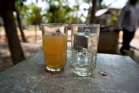 water filter before and after