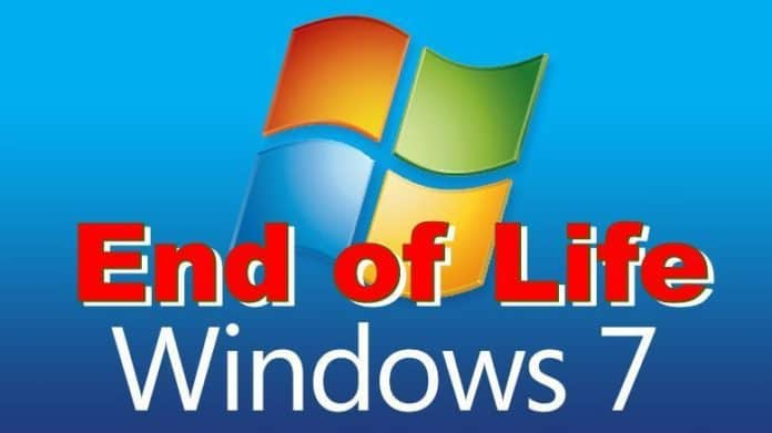 End of life Windows7