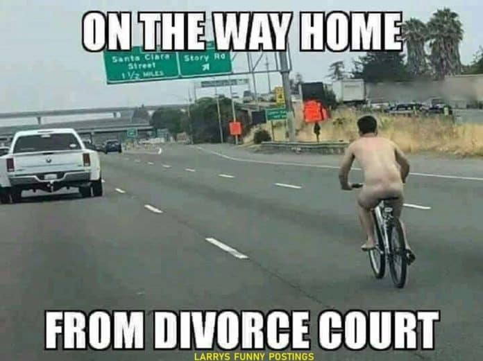 Going home from divorce court