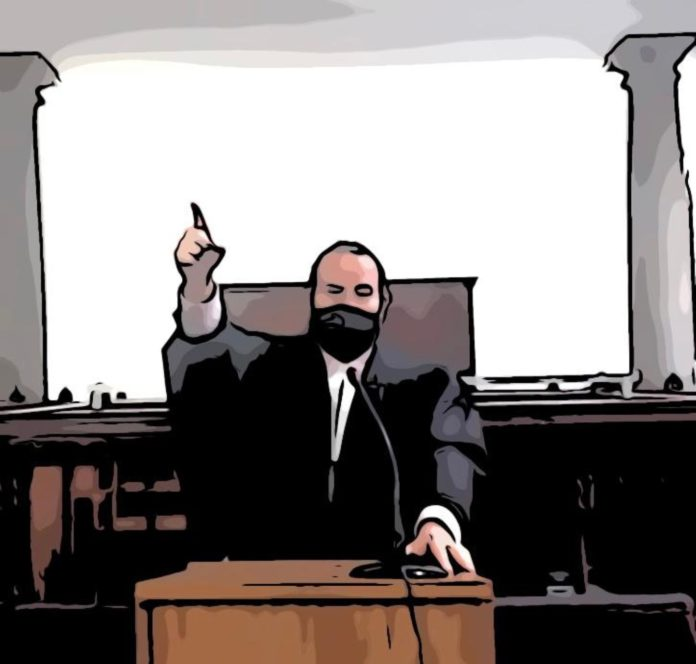 Barry Varkel in Court