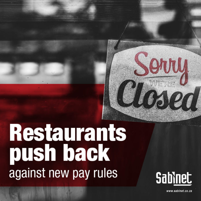 Sabinet Restaurant Pay Rules