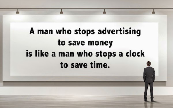 A man that stops advertising