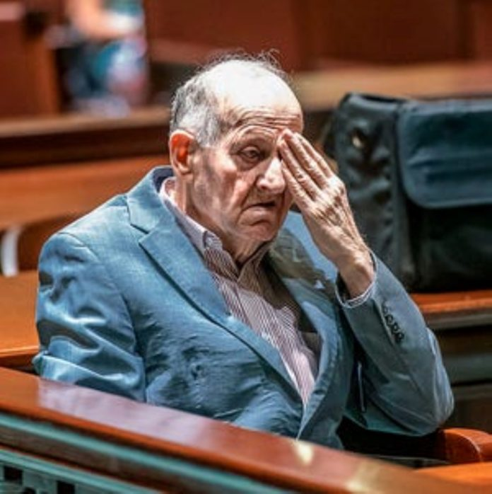 Old man in court